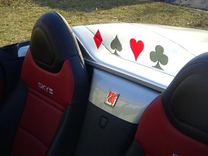Inlaid Card Suit Windscreen