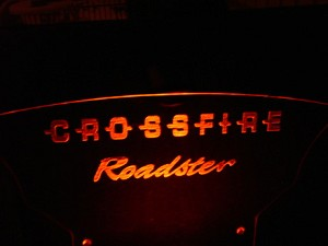 "Etched ""Crossfire Roadster"" Windblade"