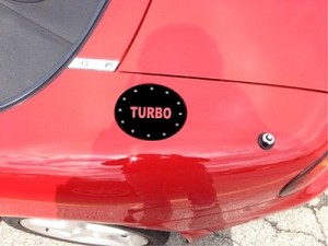 Mazda MX5 Vinyl Gas Cap Overlay With Custom Letters
