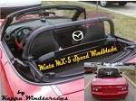 Mazda Miata MX5 Speed Etched Logo Windscreen