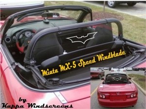 Mazda Miata MX5 Speed Etched Graphics Windscreen