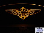Etched Aviator Wings Windscreen