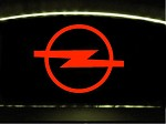 Etched Opel GT Logo In Red