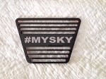 Sky Backup Light Cover With Custom Letters