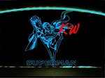 Etched Flying Superman