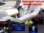 Trunk Mount Tempered Glass Graphics Lighted Windscreen