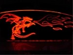Etched Fire-Breathing Dragon Windblade