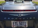 Chrysler Crossfire Custom Letters Vinyl Brake Light Overlay