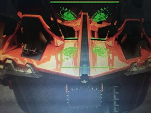 Polaris Slingshot Etched Lighted Windscreen (center section only).