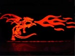 BMW Z3 Etched Fire Breathing Dragon Windblade